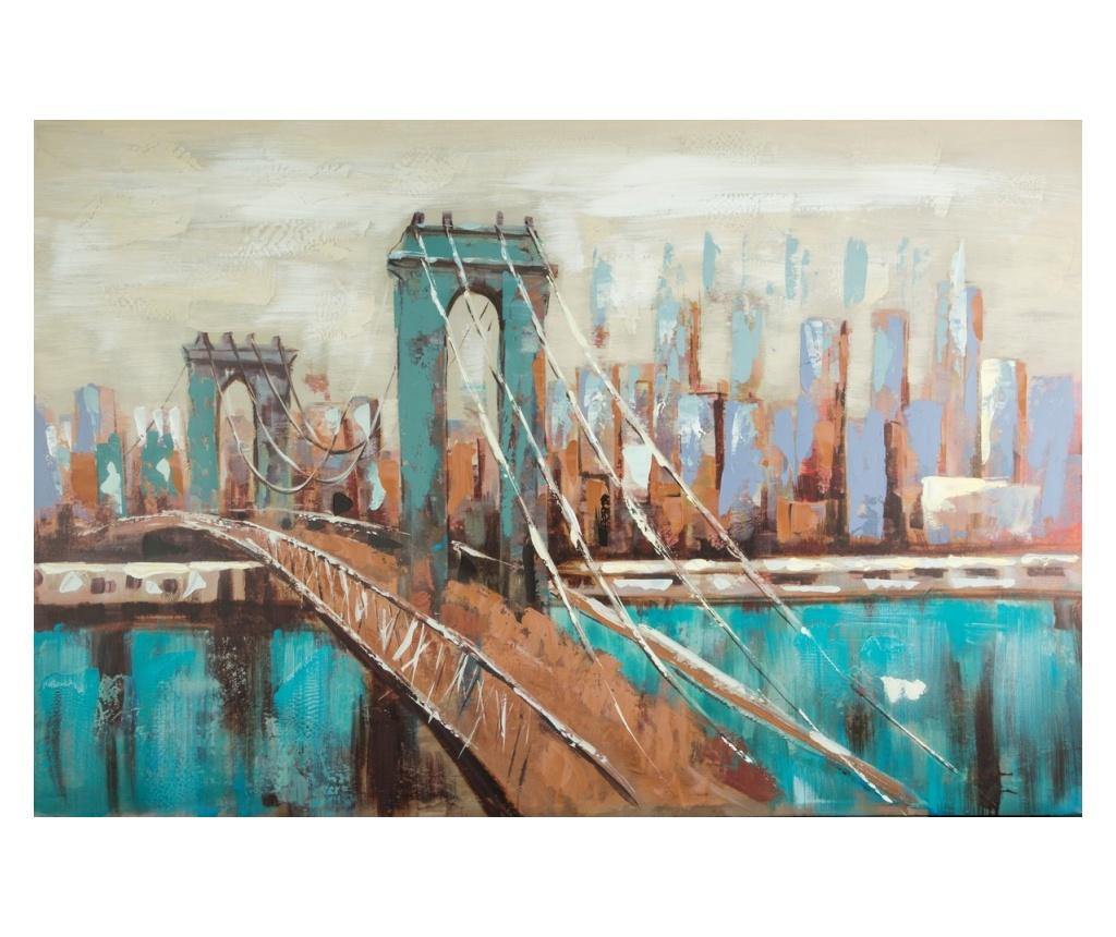 Tablou Urban 80x120 cm - Eurofirany, Albastru imagine