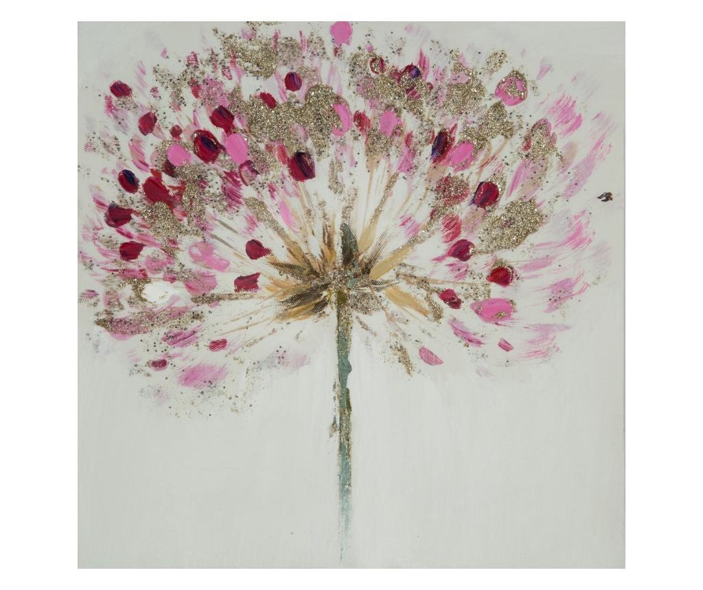Tablou Pink Flower 30x30 cm
