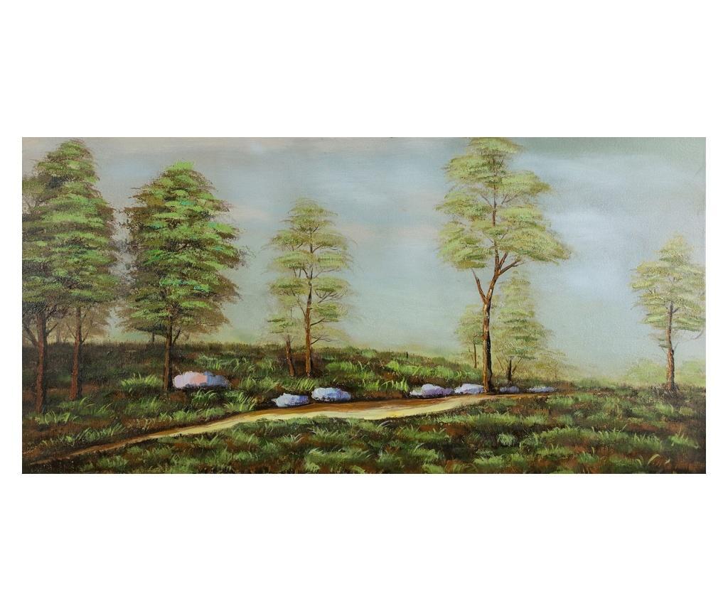Tablou Spring is Here 60x120 cm - Eurofirany, Verde imagine