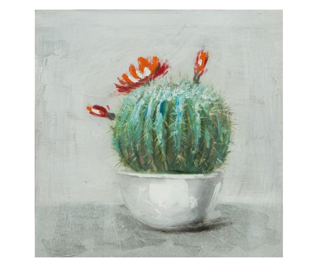 Tablou Cactus 40x40 cm - Eurofirany, Verde imagine