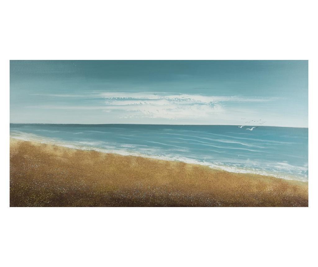 Tablou Beach 60x120 cm - Eurofirany, Albastru poza