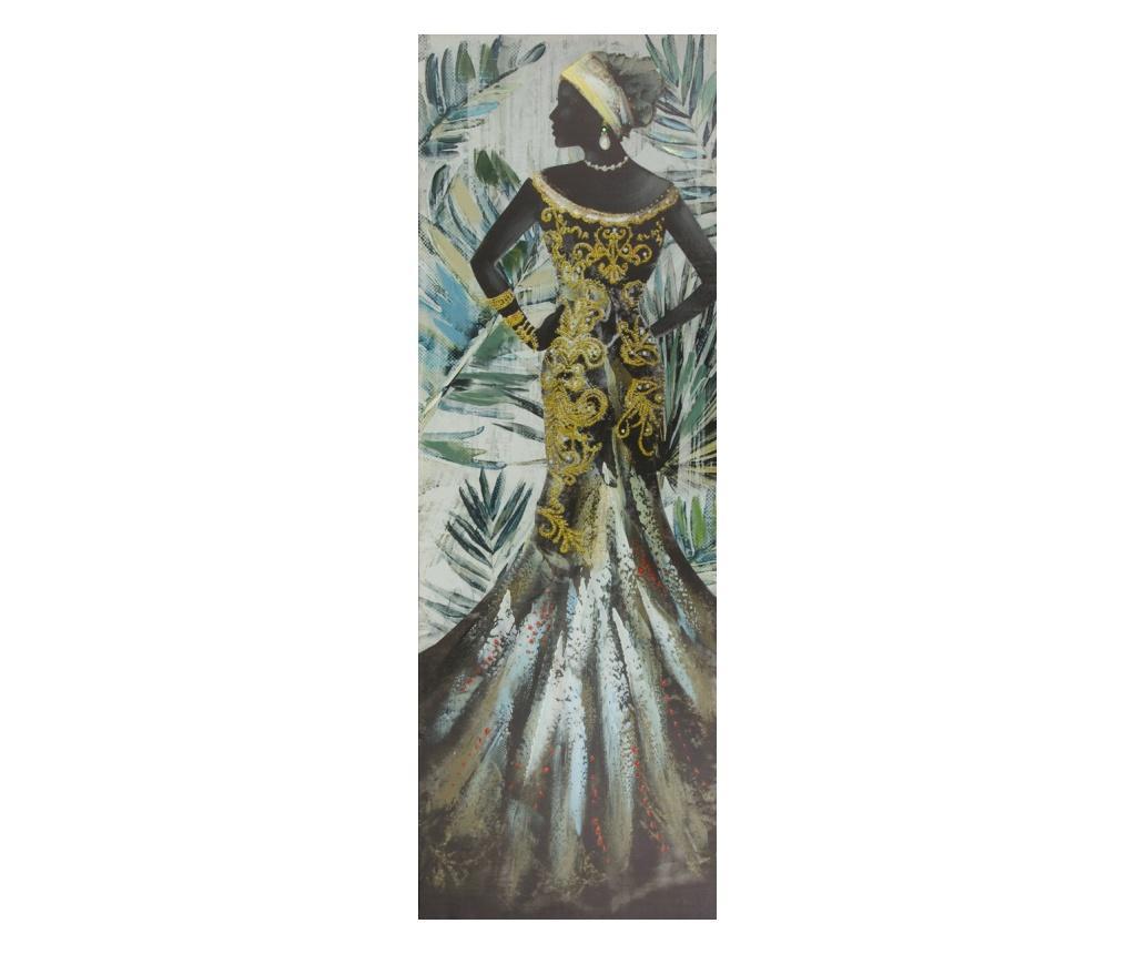 Tablou African Woman 50x150 cm