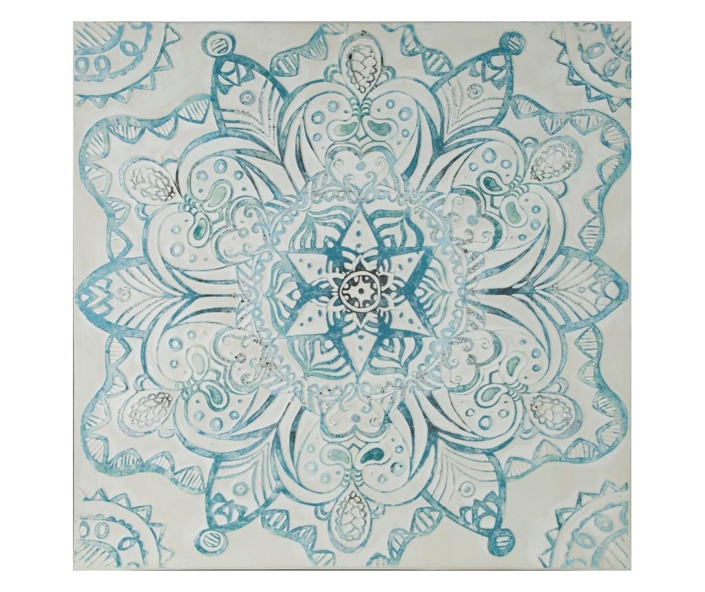 Tablou Arabic 100x100 cm - Eurofirany, Albastru imagine