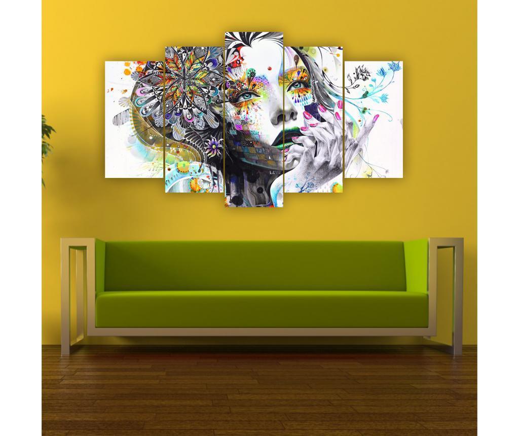 Set 5 tablouri Arlena - CASBERG, Multicolor de la CASBERG