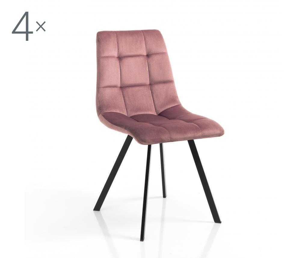 Set 4 scaune Toffee Pink - Tomasucci, Roz
