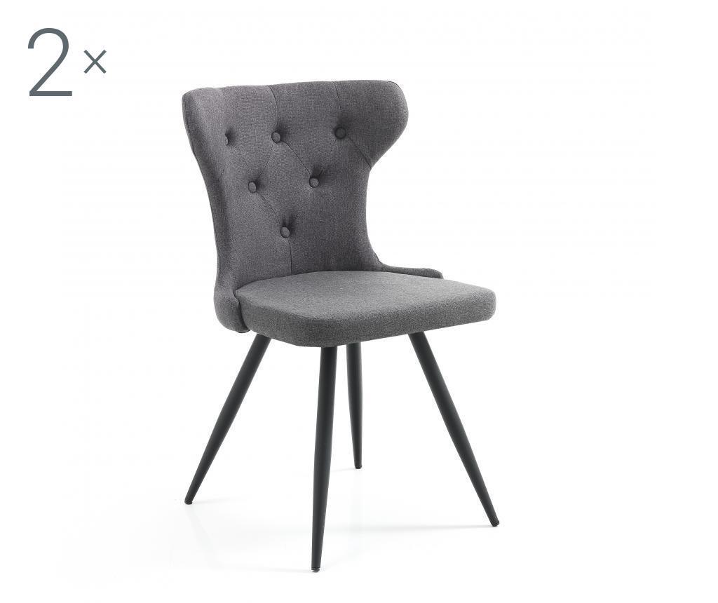 Set 2 scaune Vorta Dark Gray vivre.ro