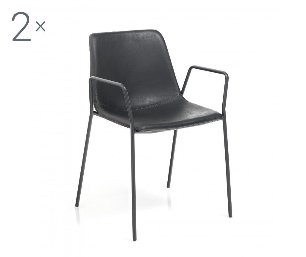 Set 2 scaune Viktoria Black - Tomasucci