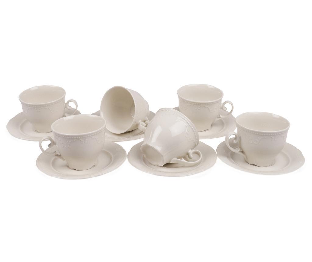 Set 6 cesti si 6 farfurioare Tea Simple Elegance - Kütahya Porselen imagine