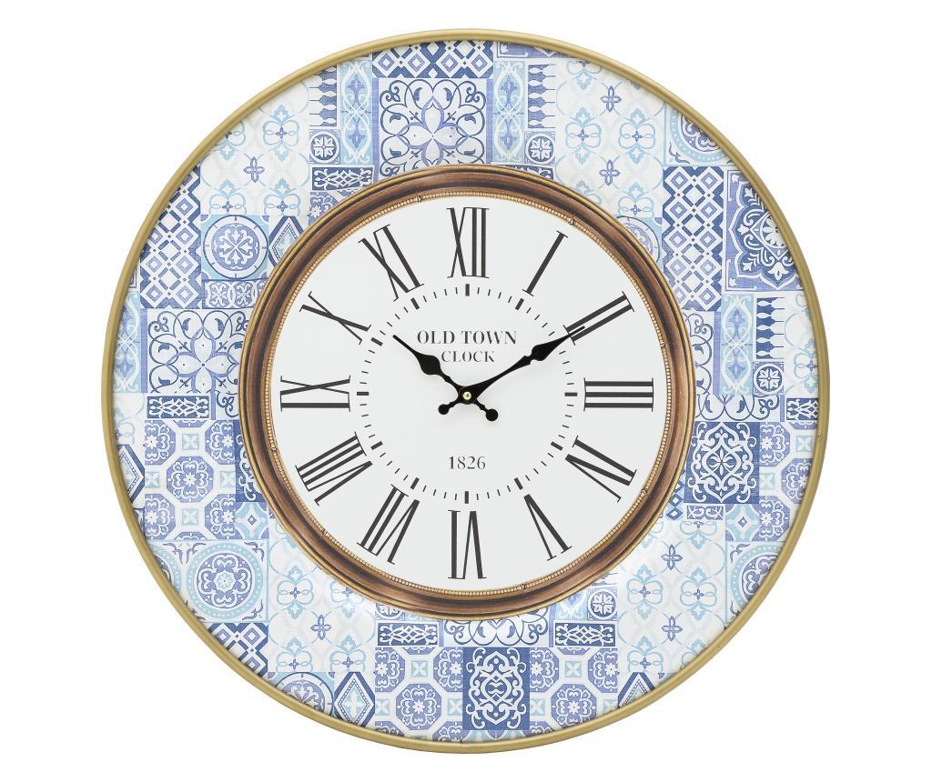 Ceas de perete Blue & White - inart, Alb