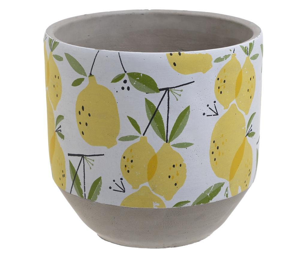 Ghiveci Lemons M - inart, Multicolor poza