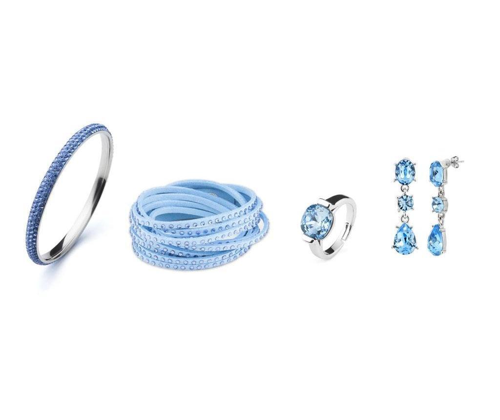 Set bijuterii 4 piese - VANCRYSTALS, Albastru poza