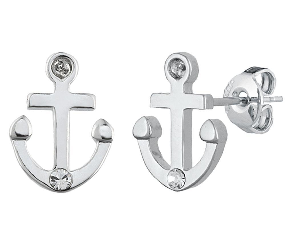 Cercei Anchor Silver - VipDeluxe, Gri & Argintiu imagine
