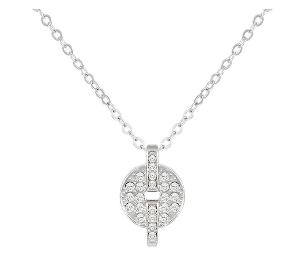 Lantisor cu pandantiv Afrodita Silver - VipDeluxe, Gri & Argintiu imagine