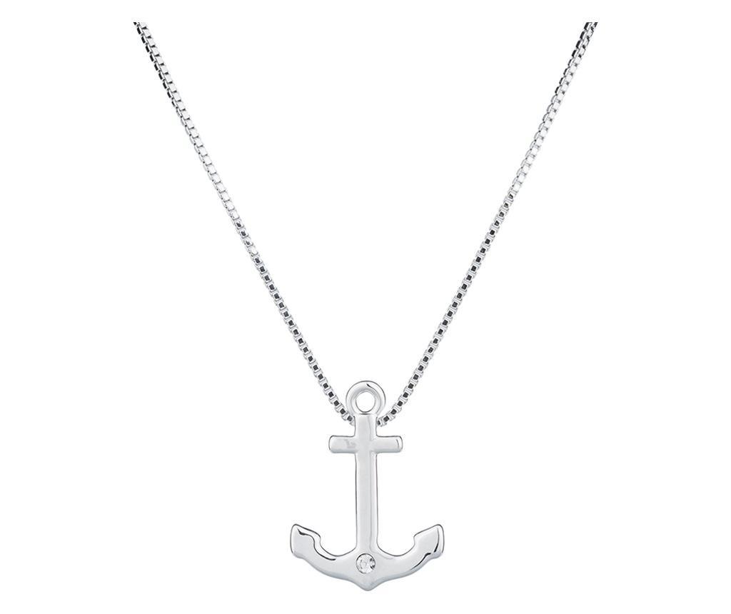 Lantisor cu pandantiv Anchor Silver - VipDeluxe, Gri & Argintiu imagine