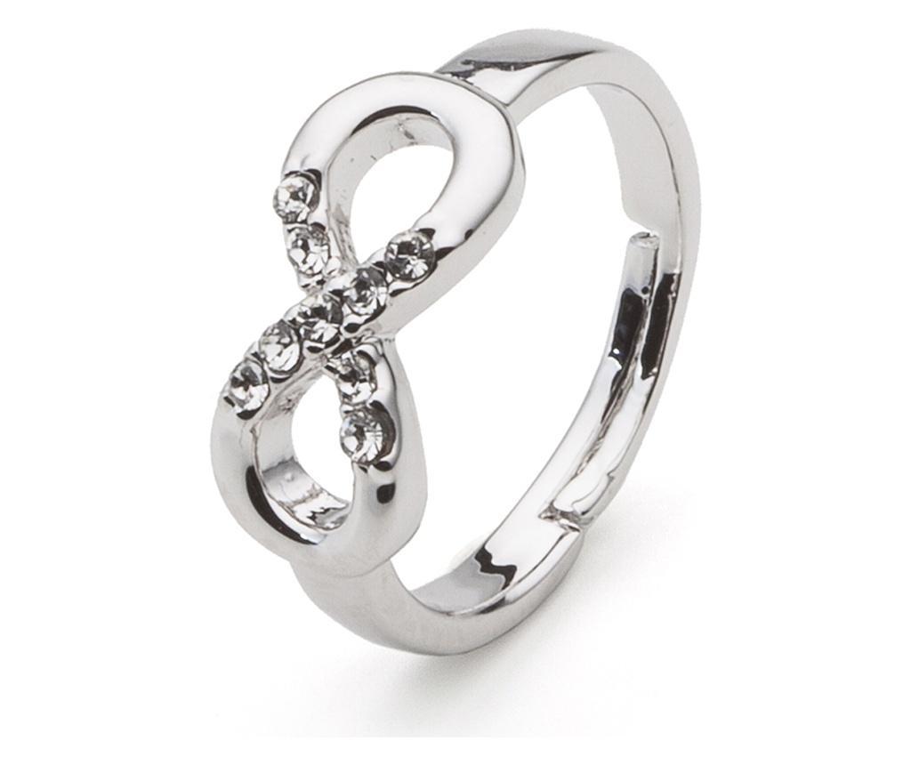 Inel Infinity Silver 20 mm - VipDeluxe, Gri & Argintiu poza