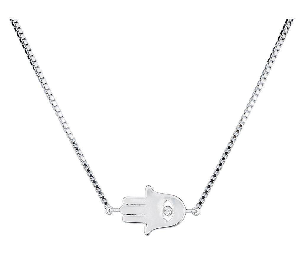 Lantisor cu pandantiv Fatima Silver - VipDeluxe, Gri & Argintiu imagine