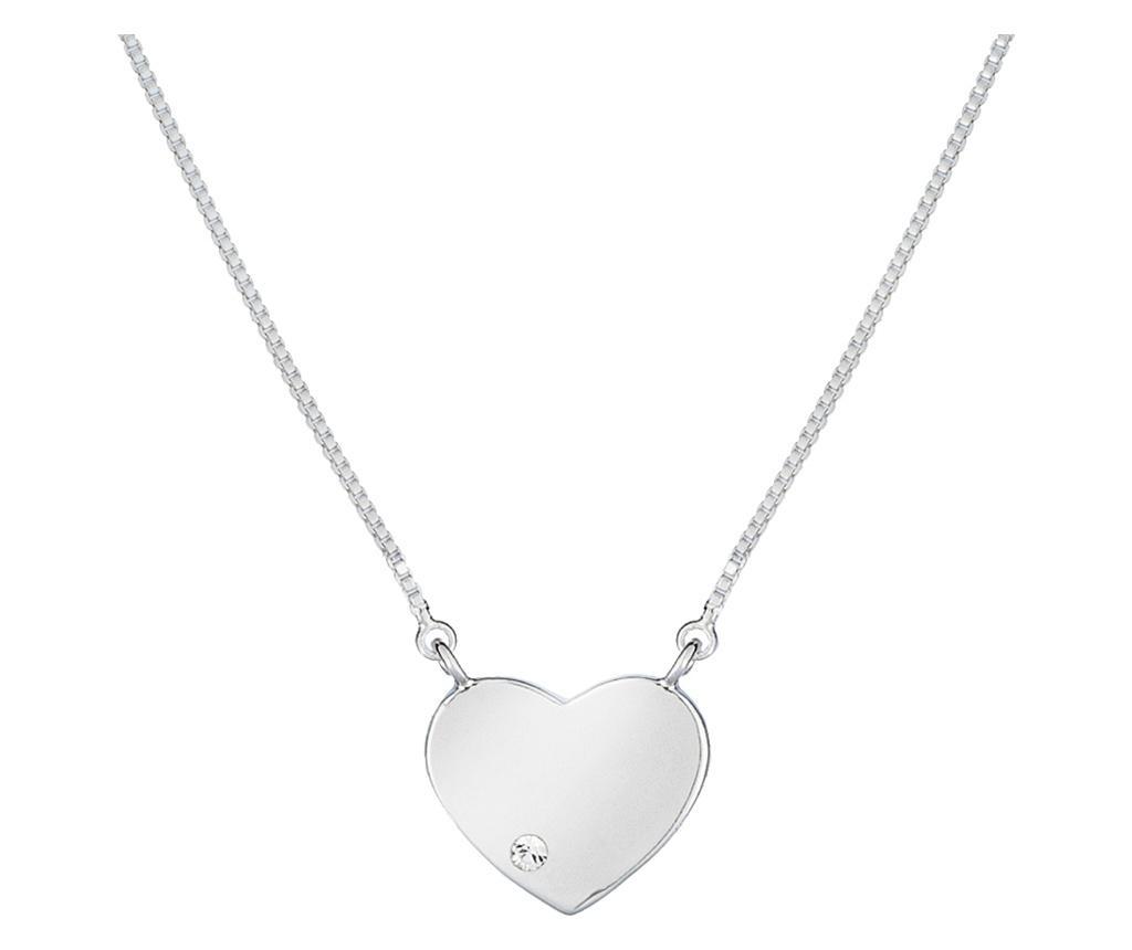 Lantisor cu pandantiv Heart Silver - VipDeluxe, Gri & Argintiu poza