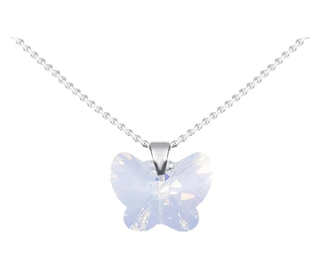 Lantisor cu pandantiv Mariposa Silver - VipDeluxe, Gri & Argintiu imagine