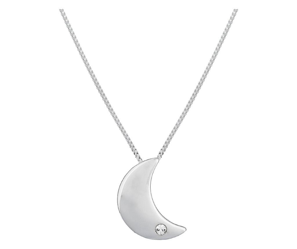 Lantisor cu pandantiv Moon Silver - VipDeluxe, Gri & Argintiu poza