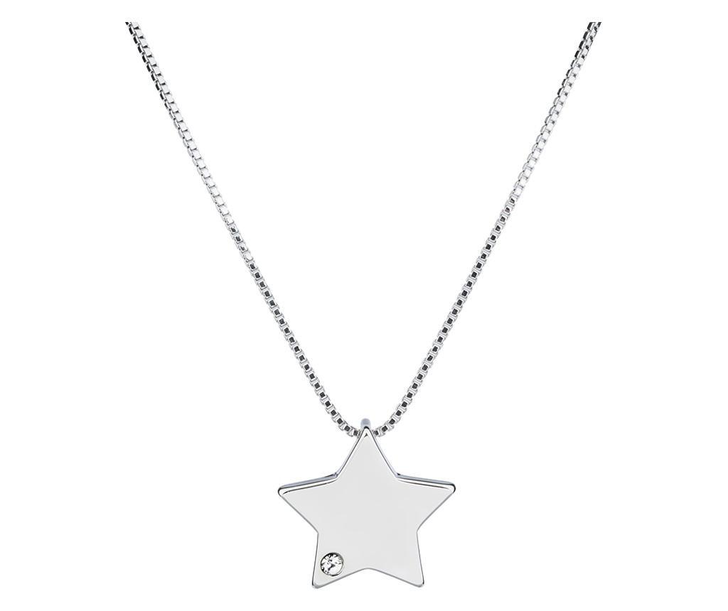 Lantisor cu pandantiv Star Silver - VipDeluxe, Gri & Argintiu poza