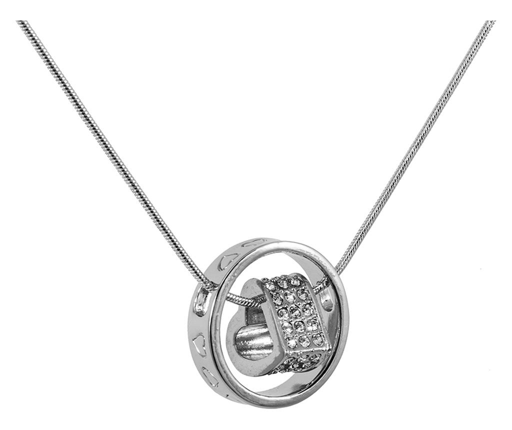 Lantisor cu pandantiv Passion Silver - VipDeluxe, Gri & Argintiu imagine
