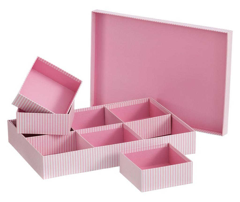 Krabice s víkem Lines Pink