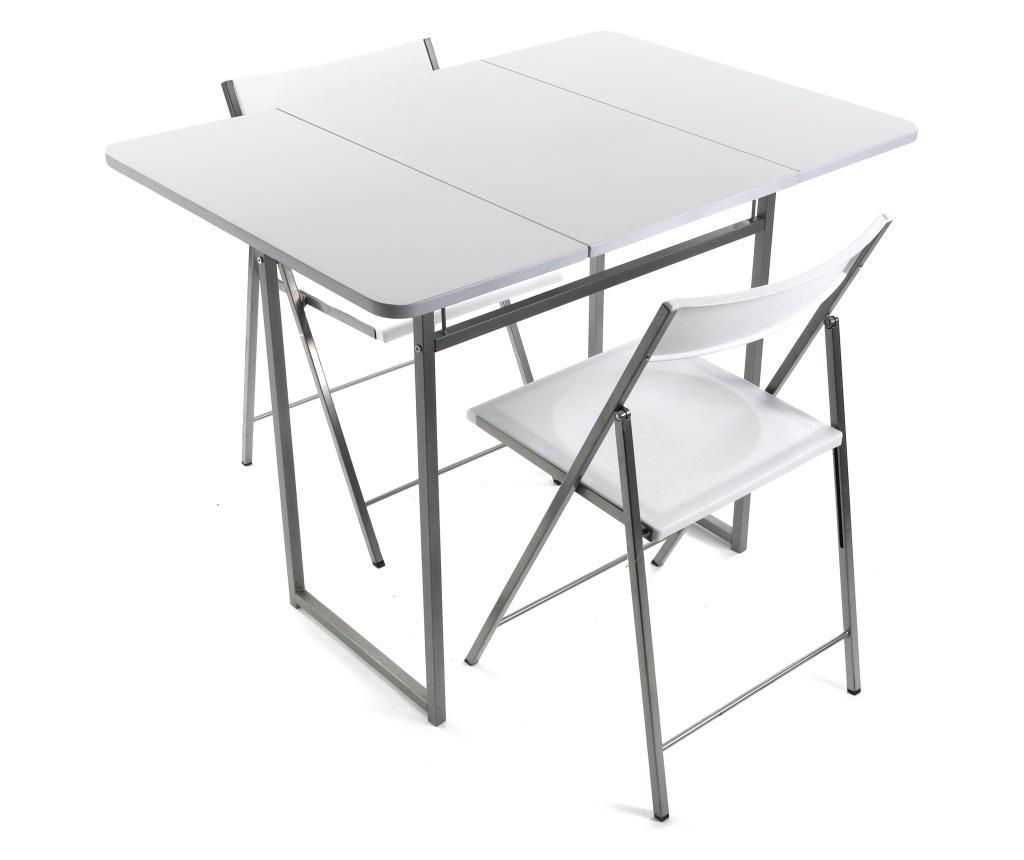 Set masa si 2 scaune - Versa, Alb imagine