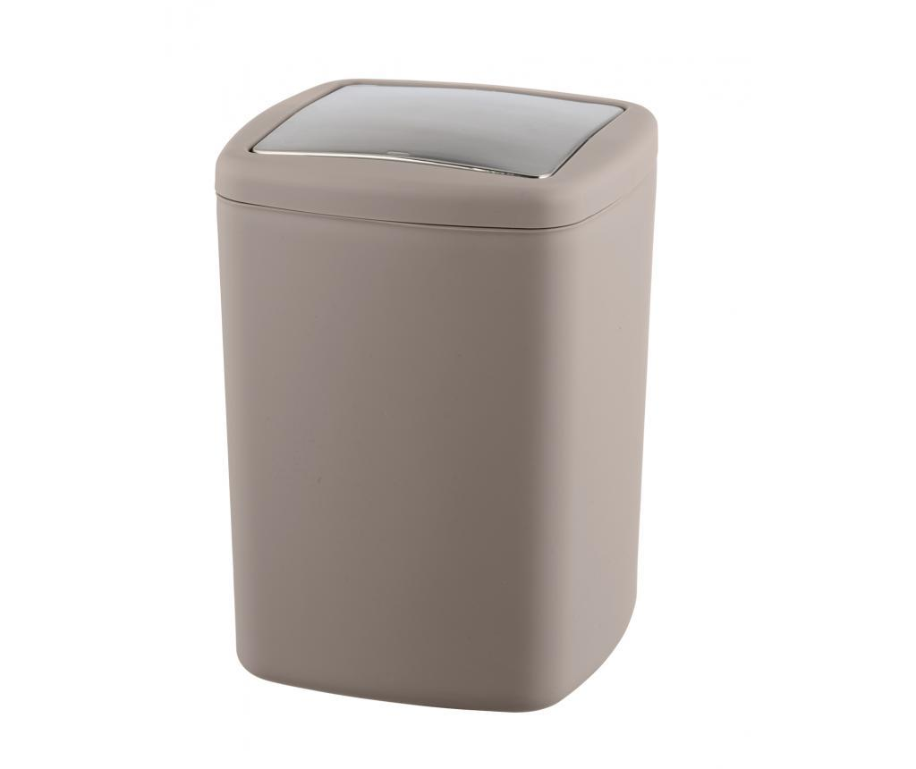 Cos de gunoi cu capac Barcelona Taupe 8.5 L imagine
