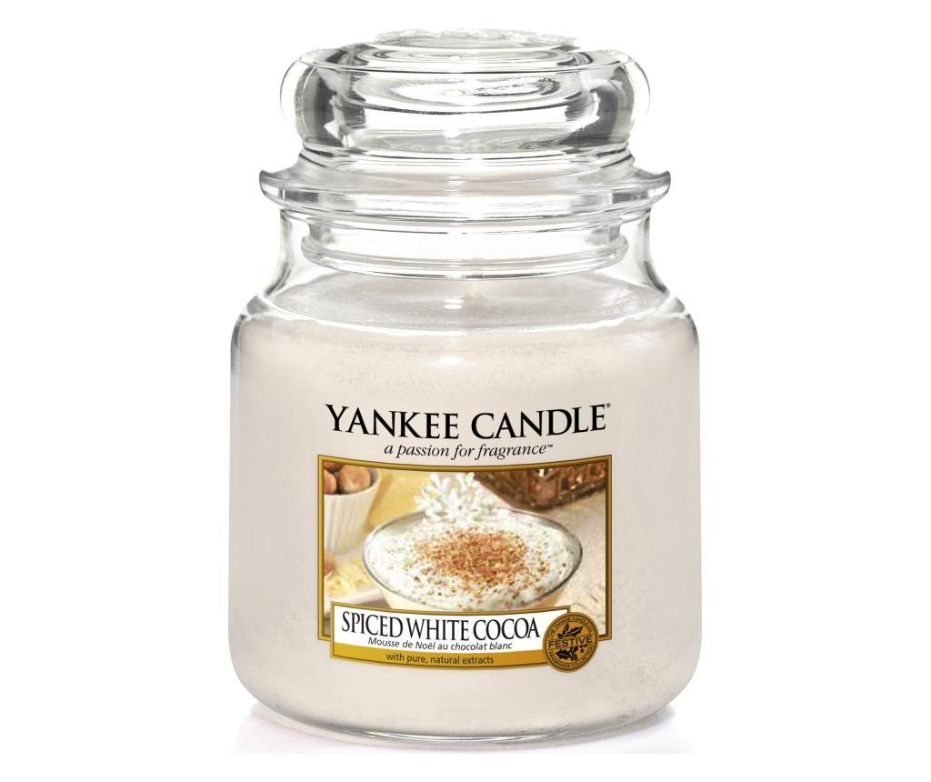 Lumanare parfumata Spiced white cocoa - Yankee Candle, Multicolor poza