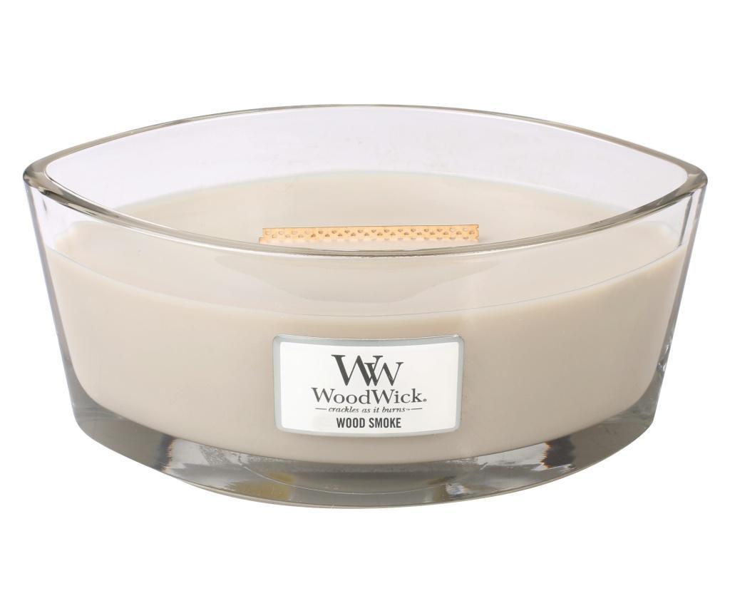 Lumanare parfumata Ellipse Wood Smoke Crackling Sound - WoodWick, Multicolor poza
