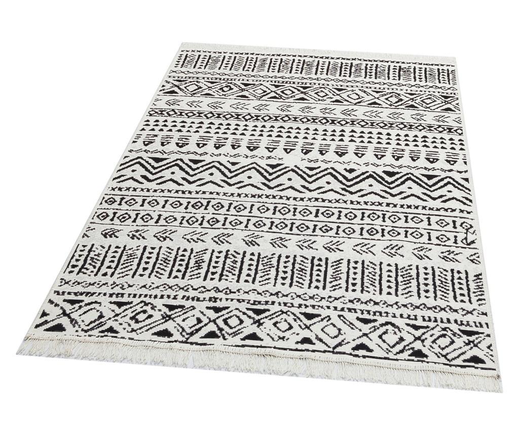 Covor 160x230 cm - Eko Halı, Alb,Negru imagine