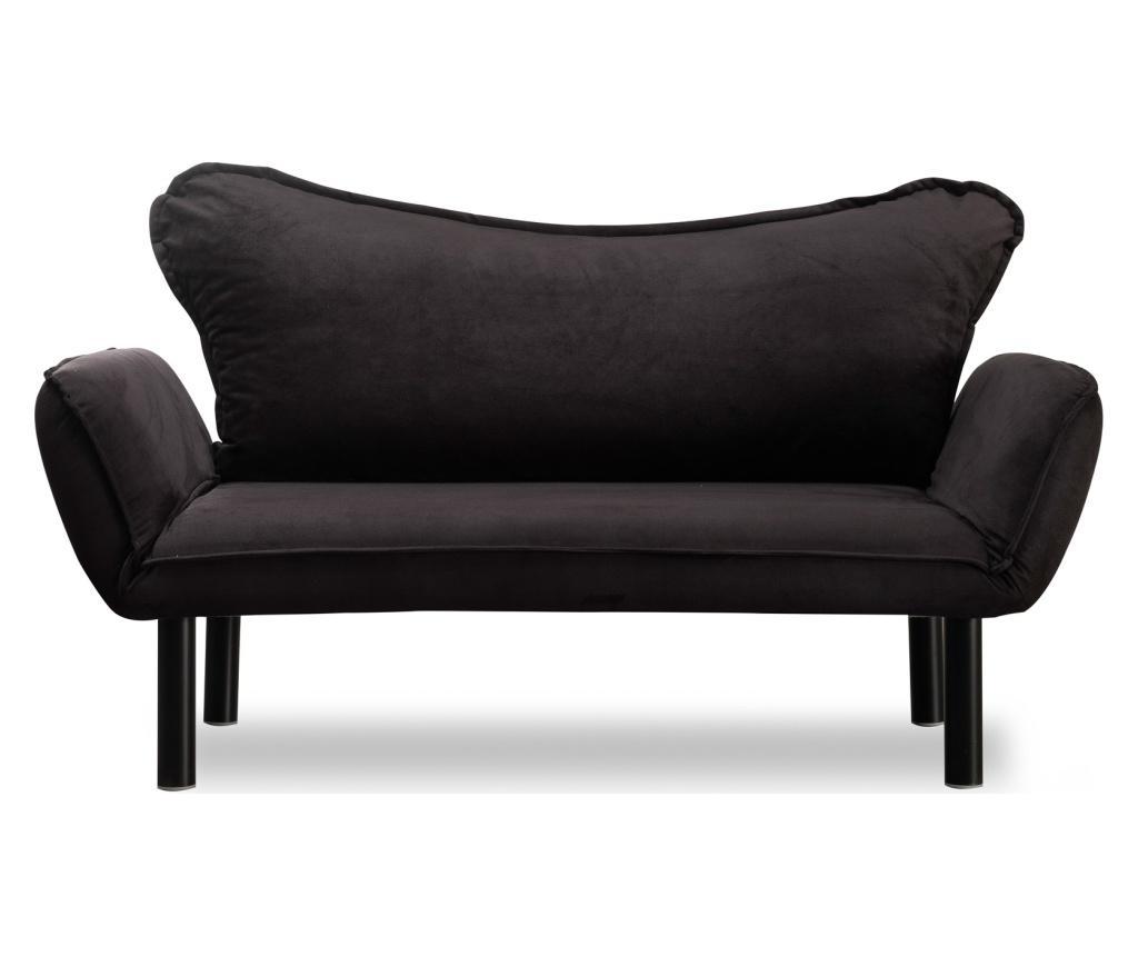 Canapea extensibila cu 2 locuri Carla Black - FUTON, Negru imagine