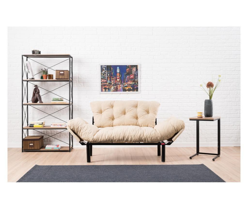 Canapea extensibila cu 2 locuri - FUTON, Crem