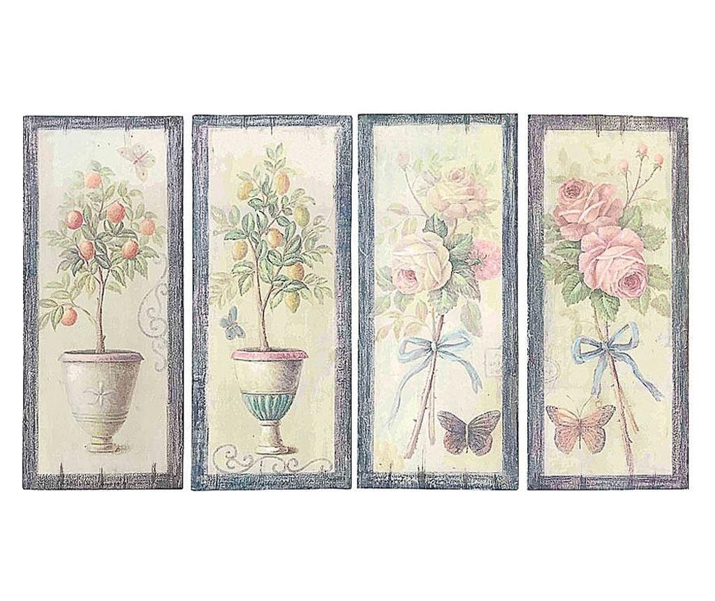 Set 4 decoratiuni de perete - Luigi Dal Pozzo, Multicolor poza noua