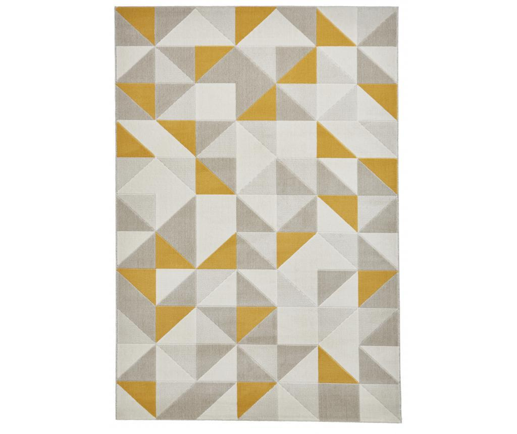 Covor Vancouver 160x220 cm - Think Rugs, Crem,Gri & Argintiu imagine