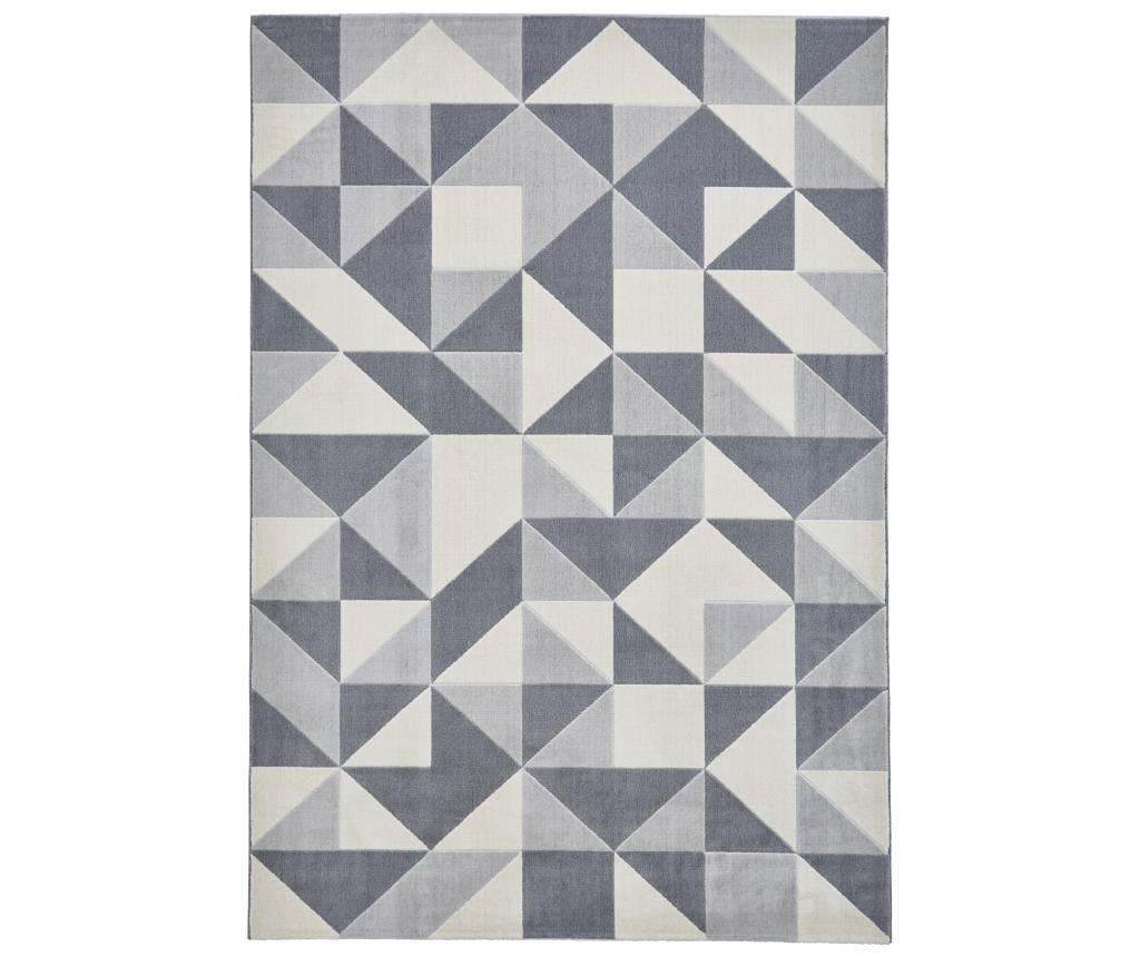 Covor Vancouver 160x220 cm - Think Rugs, Gri & Argintiu imagine