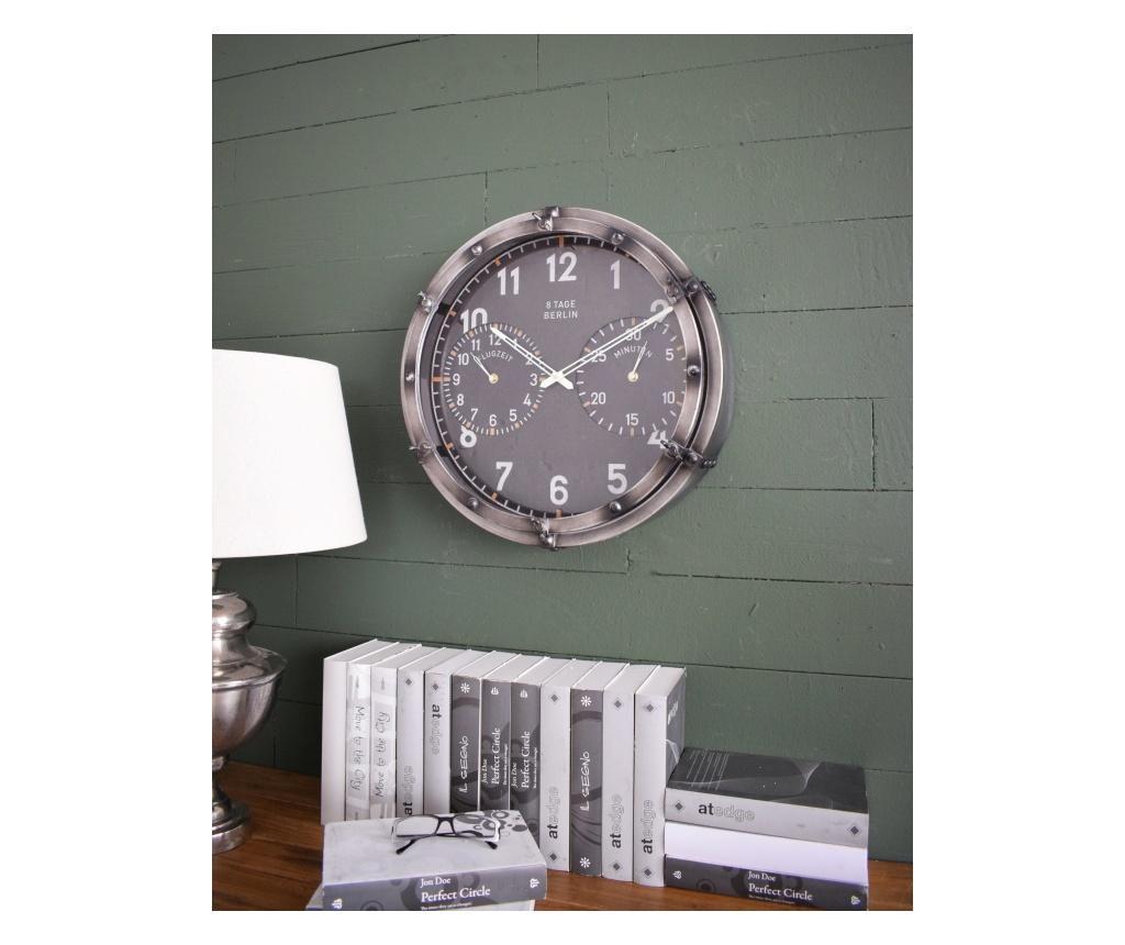 Ceas de perete - Orchidea Milano, Gri & Argintiu
