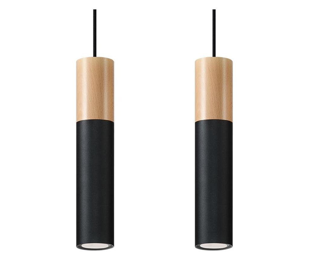 Lustra Paul 2 Black - Nice Lamps, Negru imagine
