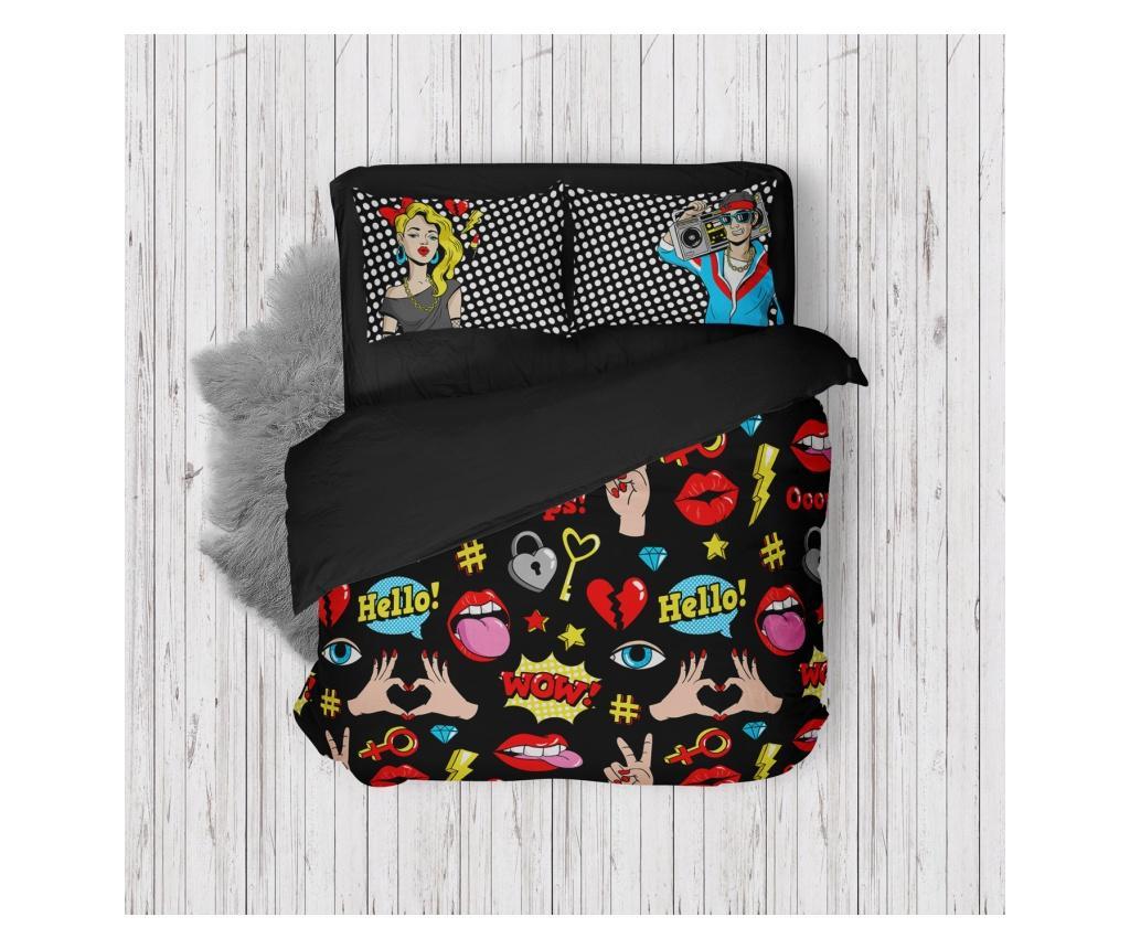 Lenjerie de pat Double - Oyo Home, Multicolor imagine