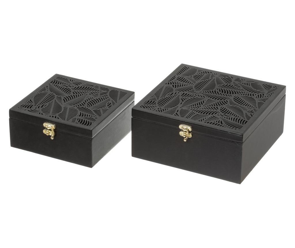 Set 2 cutii cu capac