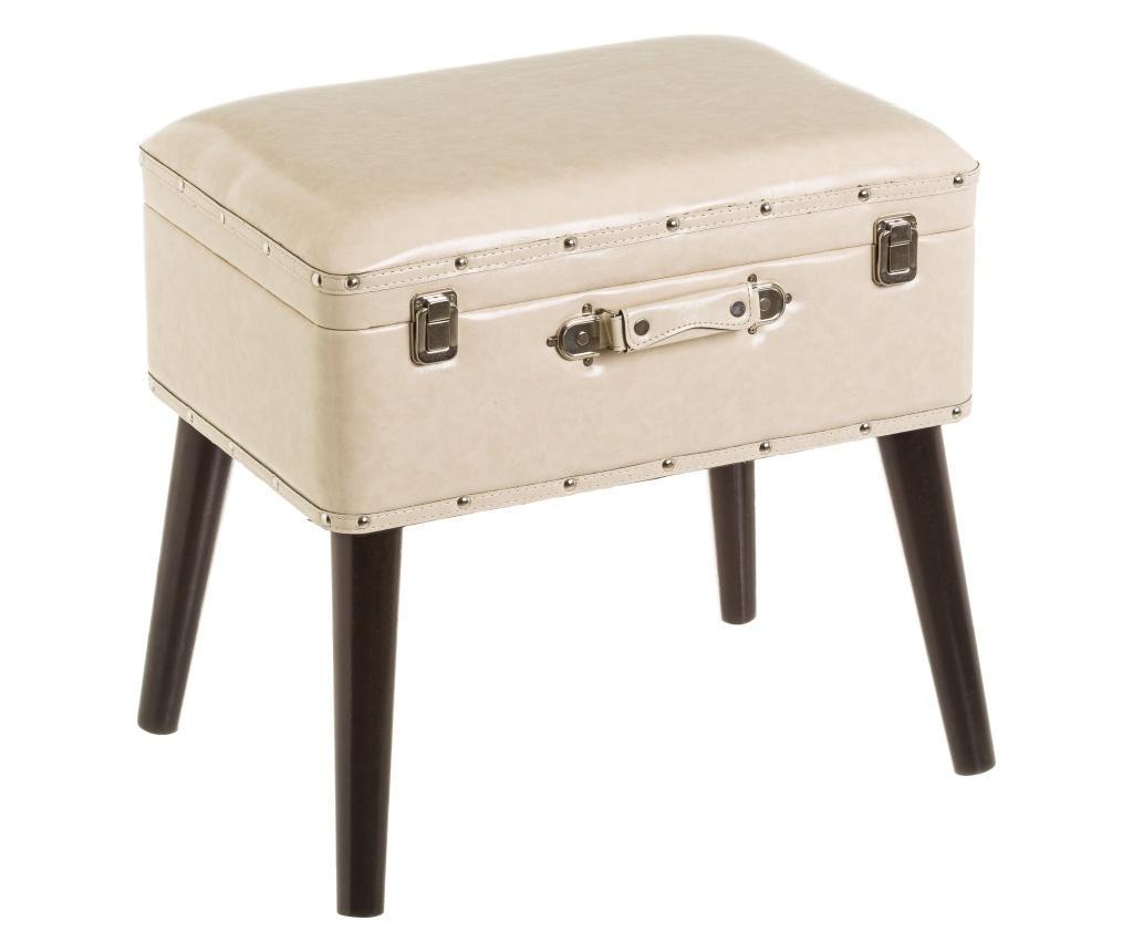 Taburet Suitcase Cream - Casa Selección, Crem imagine
