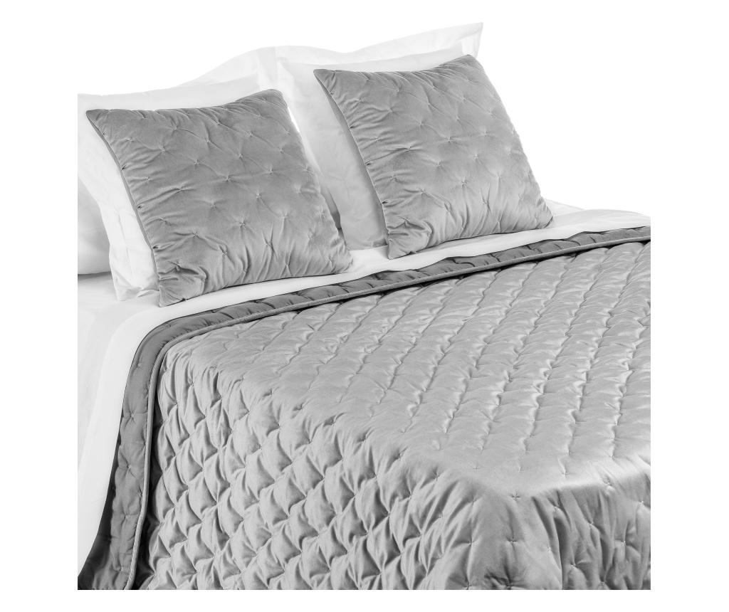 Cuvertura matlasata Sun Dark Grey 250x260 cm - Casa Selección, Gri & Argintiu vivre.ro