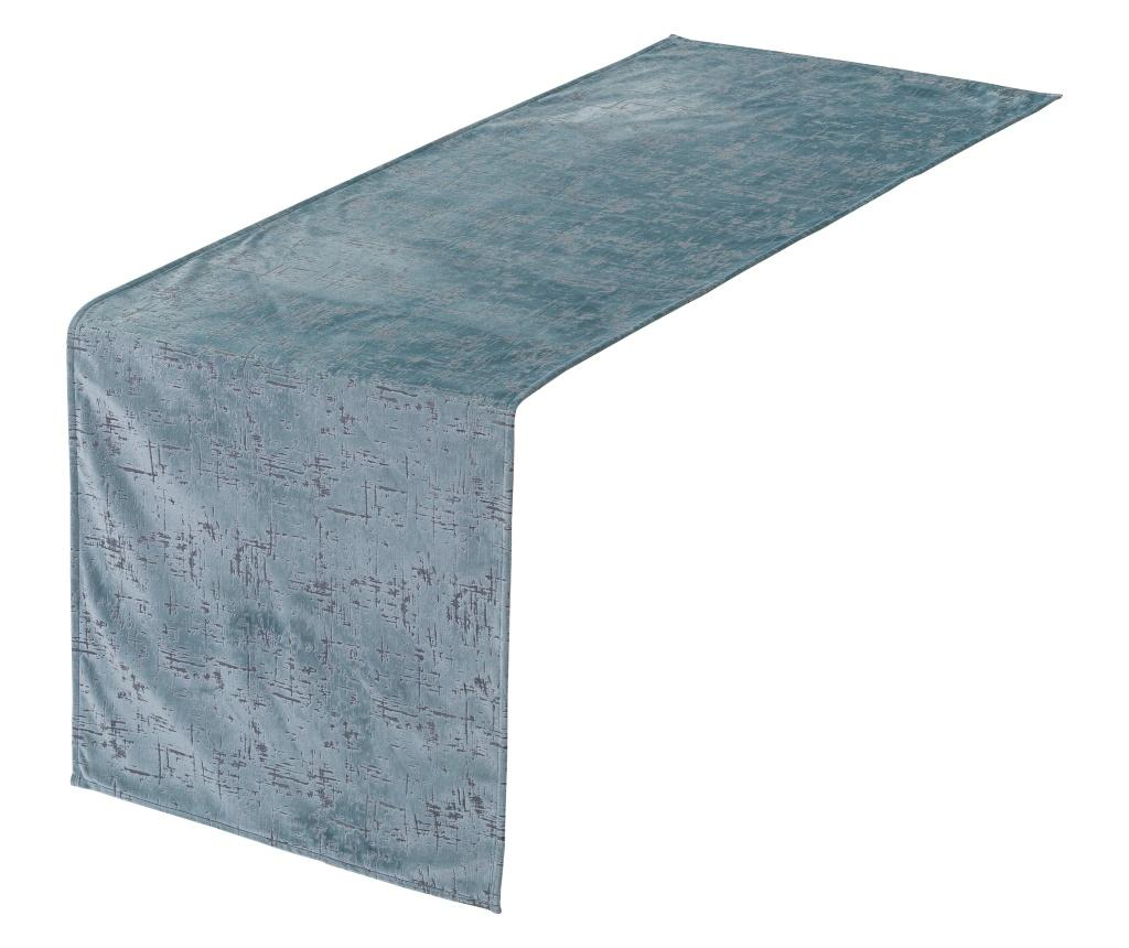 Traversa de masa Bliss Blue 50x150 cm - Casa Selección, Albastru imagine