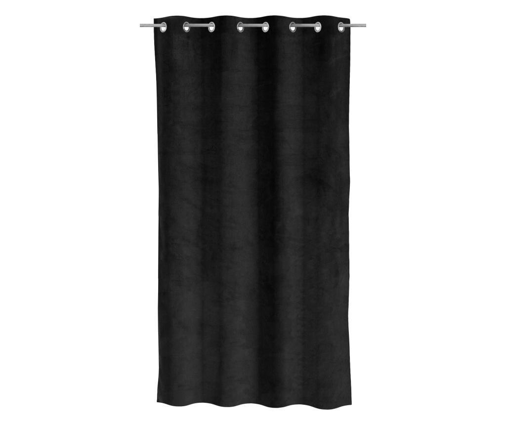 Draperie Velvet Black 140x260 cm - Casa Selección, Negru imagine