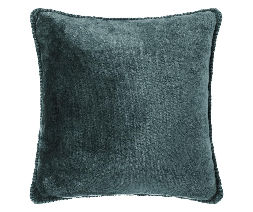 Perna decorativa Smooth Blue 45x45 cm