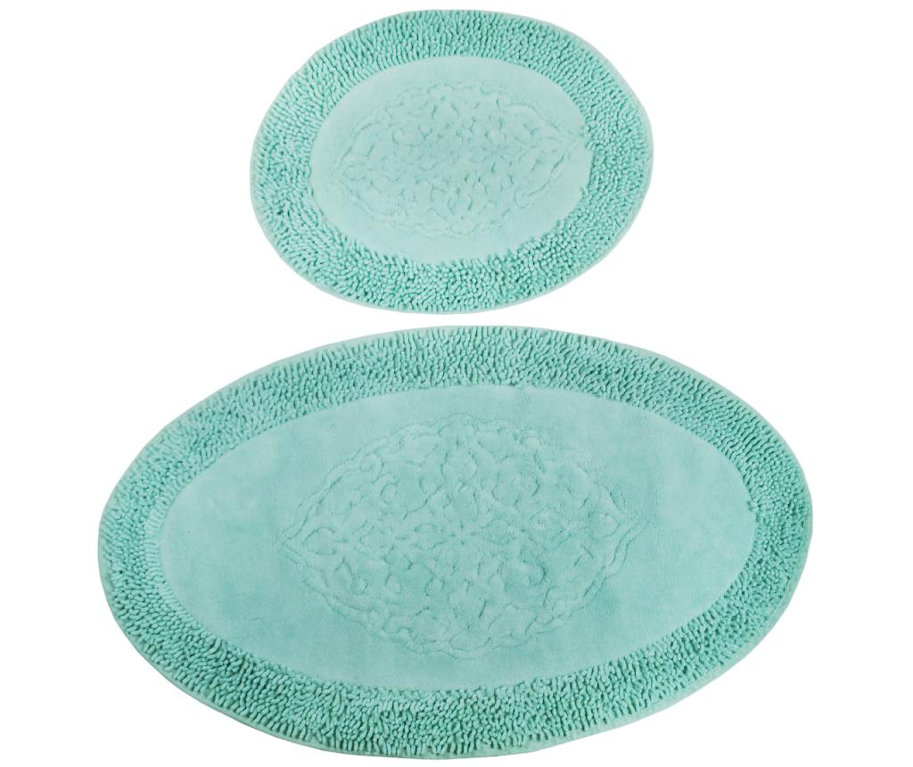 Set 2 covorase de baie Holly Oval Mint - Chilai Home