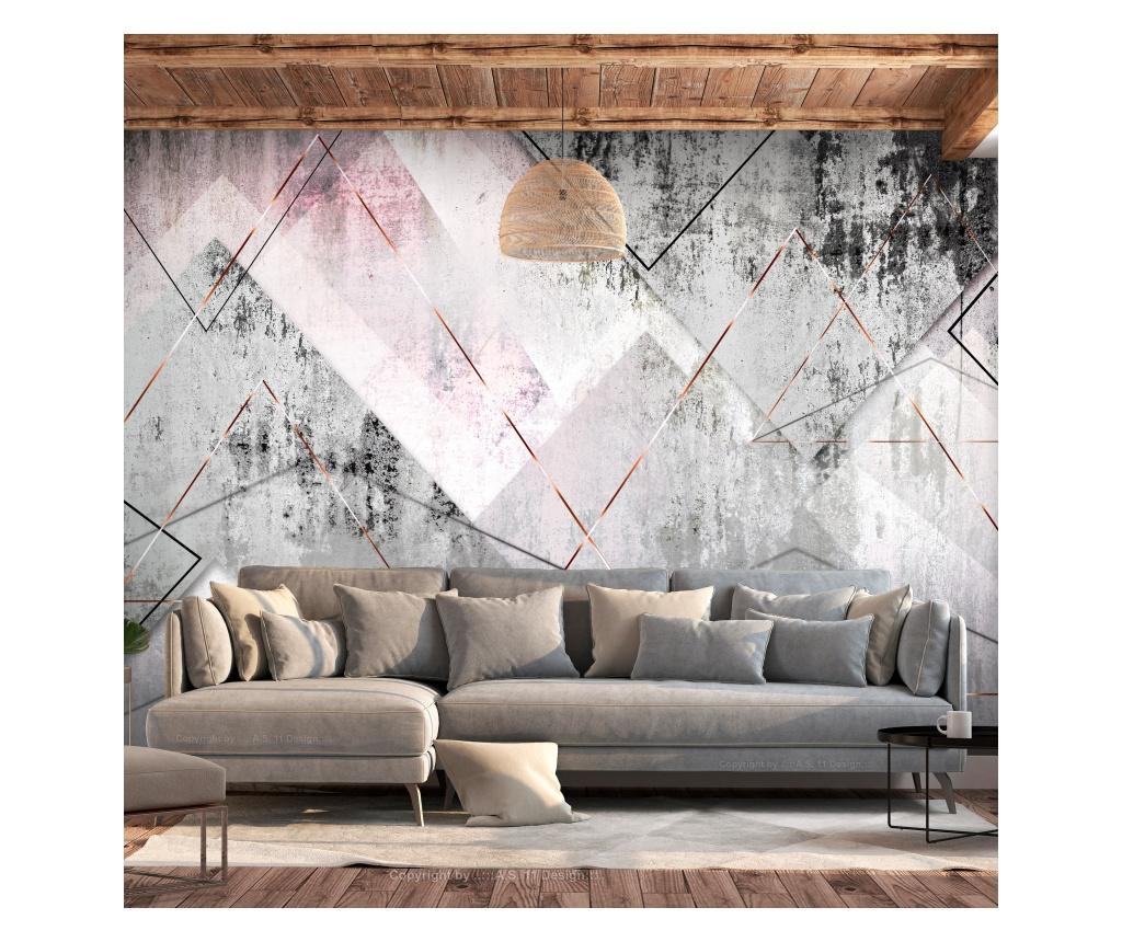 Tapet Triangular Perspective 280x400 cm - Artgeist, Multicolor vivre.ro