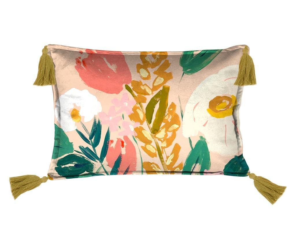 Perna decorativa Arty Flowers 35x50 cm - Velvet Atelier, Multicolor poza