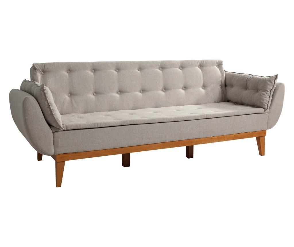 Canapea extensibila cu 3 locuri Cream - Unique Design, Crem vivre.ro