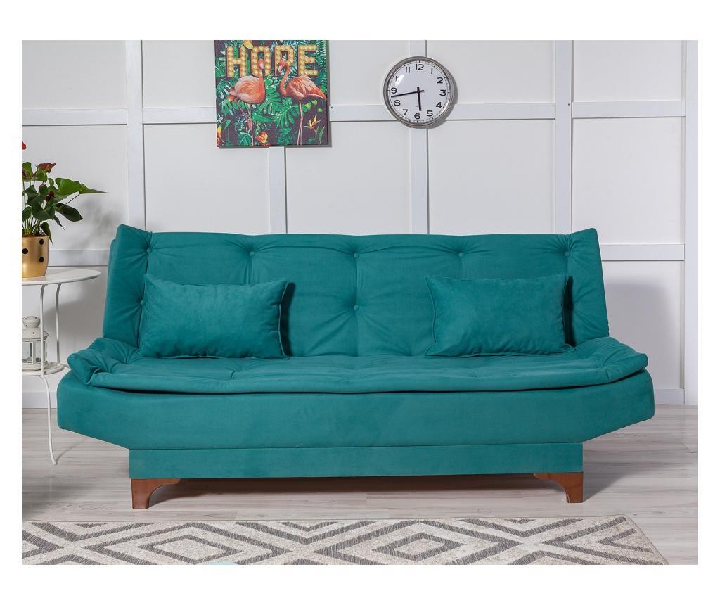 Canapea extensibila cu 3 locuri Green - Unique Design, Verde imagine
